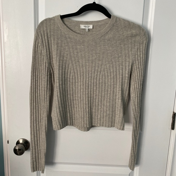 Babaton Long sleeve cropped top